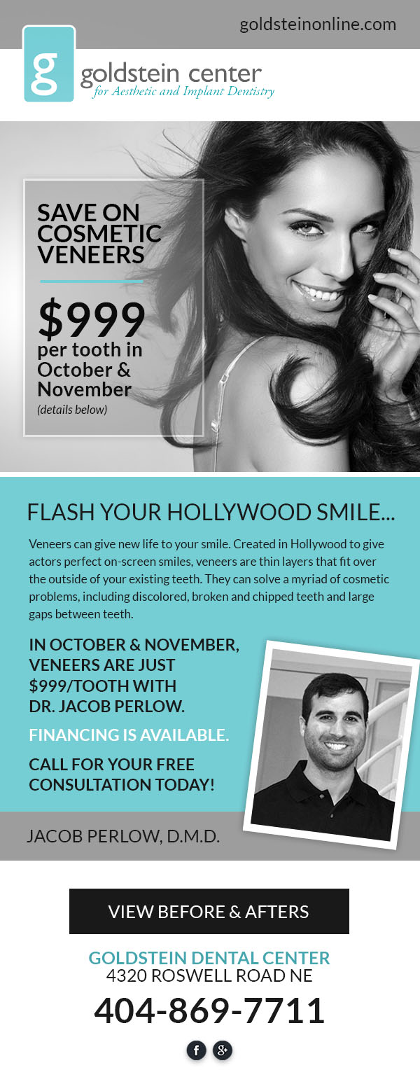 Specials | Cosmetic Dentist in Buckhead Atlanta, GA | Goldstein Online