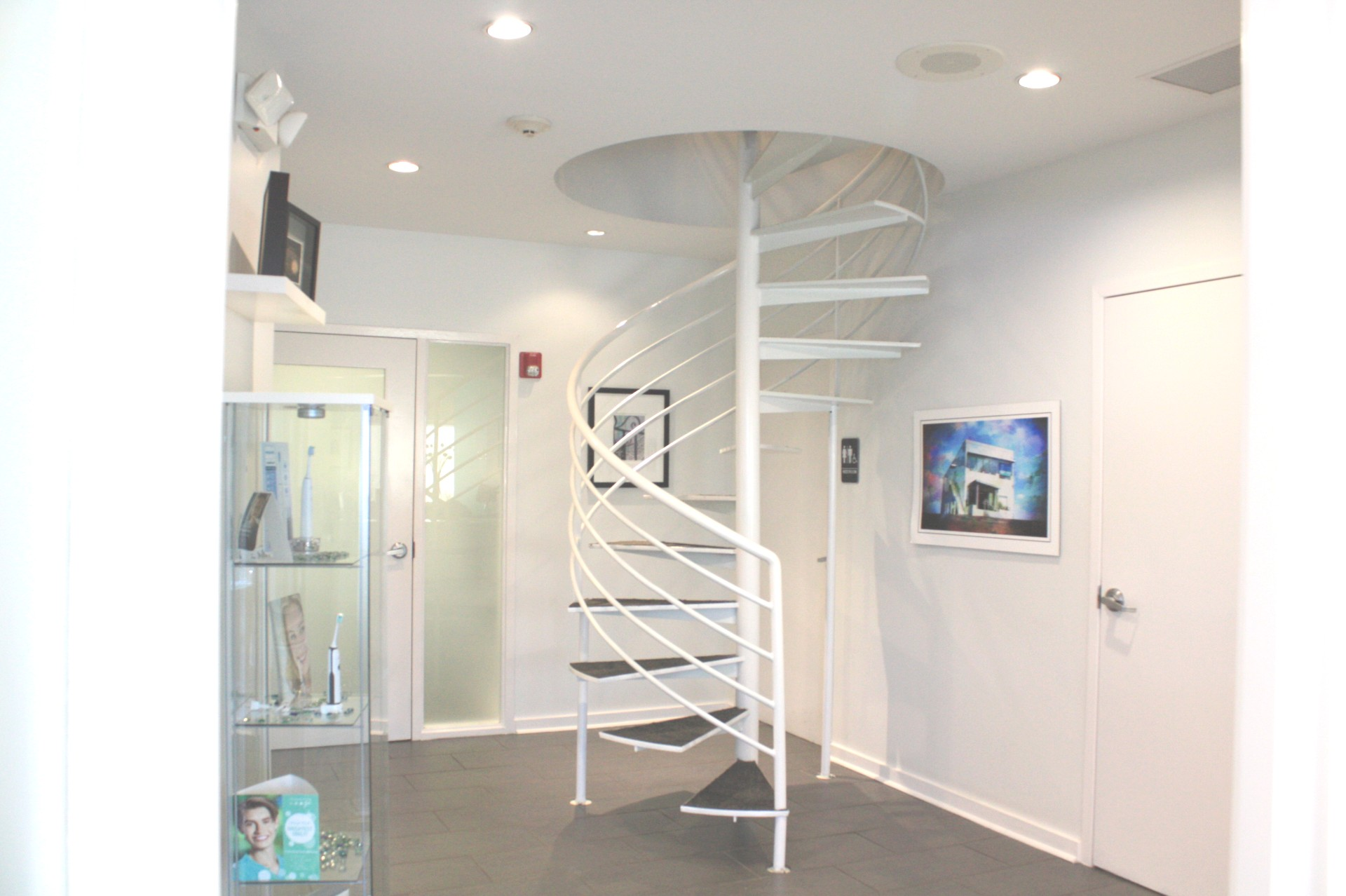 spiral staircase in our office